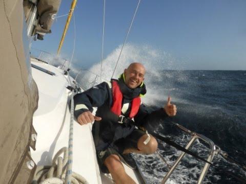 sternik jachtowy odbywający kurs